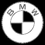 BMW Logo white small